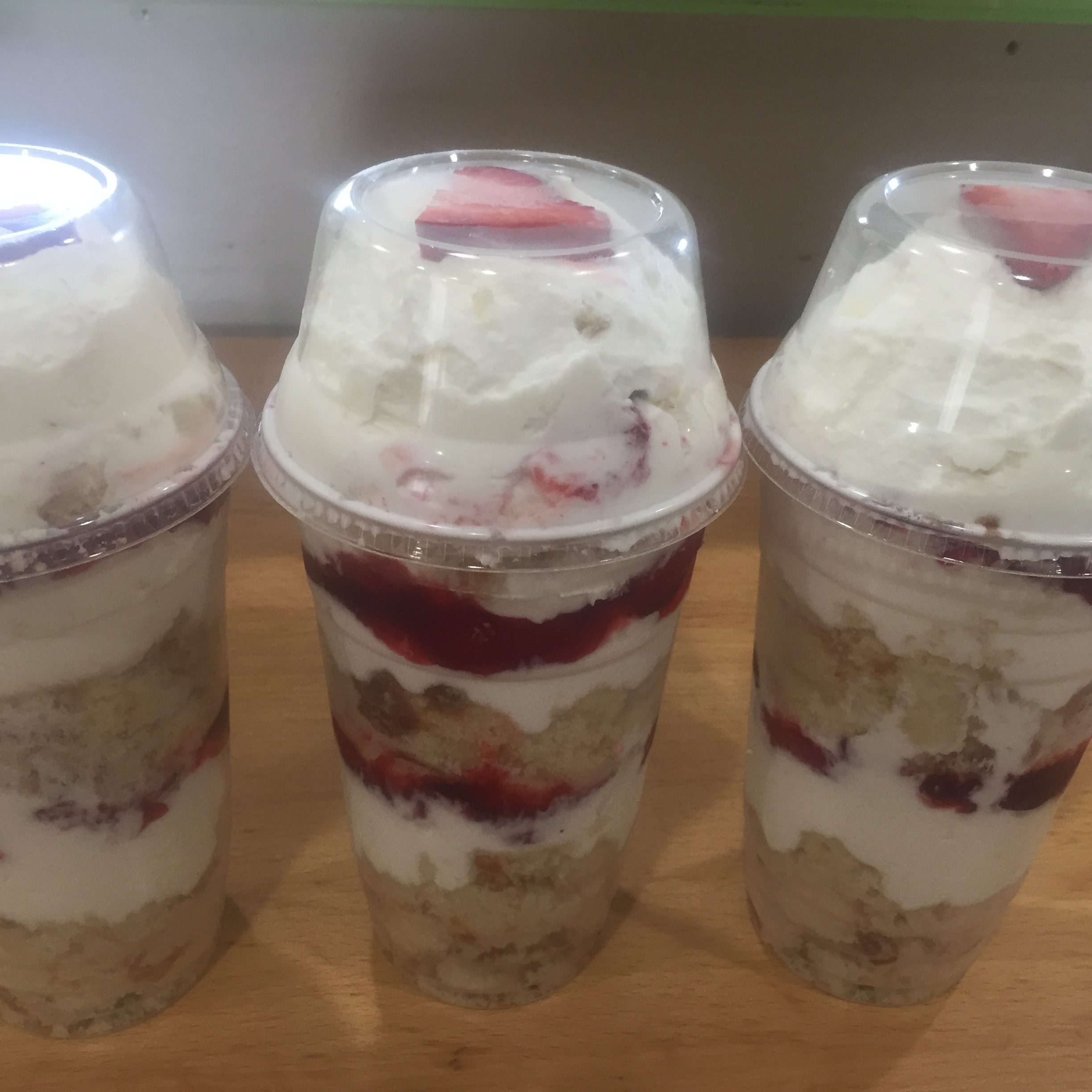 Chantilly Cups, Strawberry Delight Cups, & Bavarian Cups